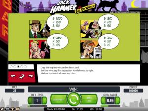 Free online slot machine Jack Hammer