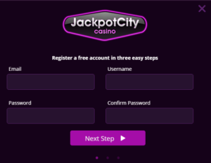 Jackpotcity casino registration