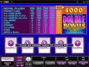 Jackpot city video poker games