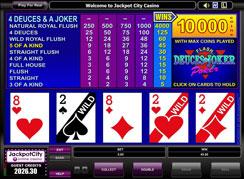 Jackpot city video poker